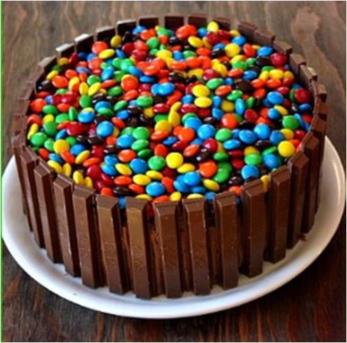 Decorate Cake with Jelly Beans