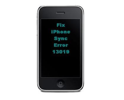 Fix 13019 iPhone Error