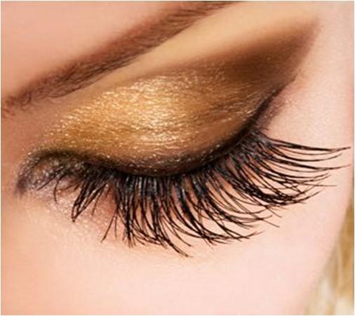 Apply Gold Eye Shadow