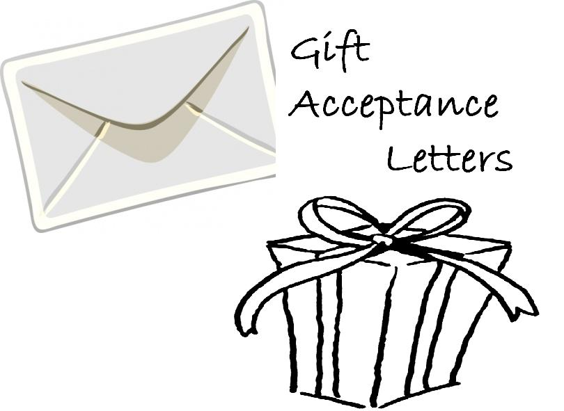 gift acceptance letters