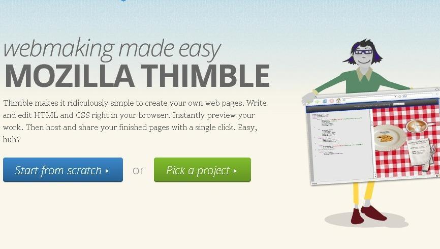 mozilla thimble launched