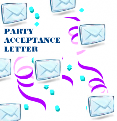 How To Write A Party Acceptance Letter