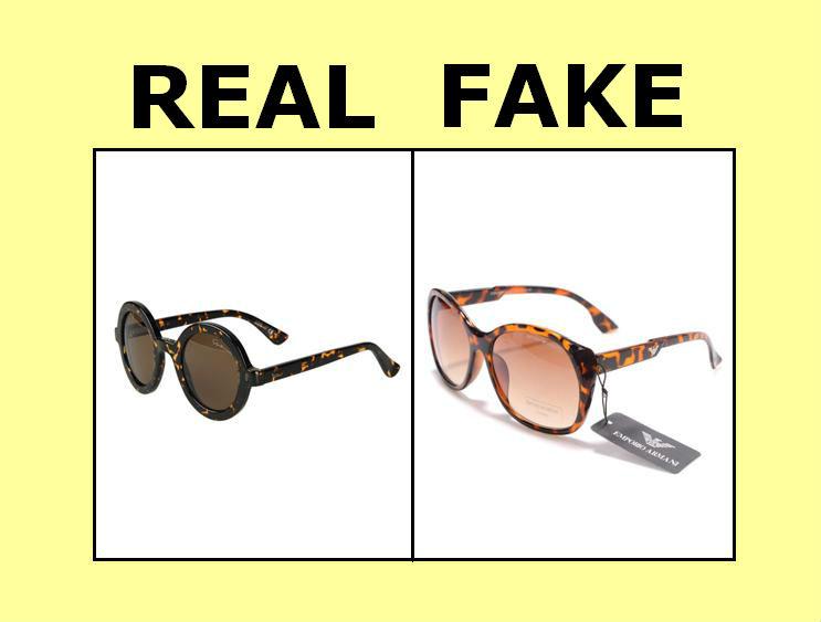 real verses fake Armani goggles