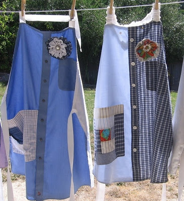 How to Make Aprons From Old Dresses