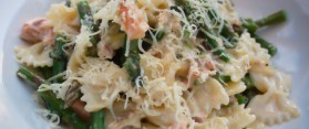 Asparagus and Smoked Salmon Farfalle Recipe
