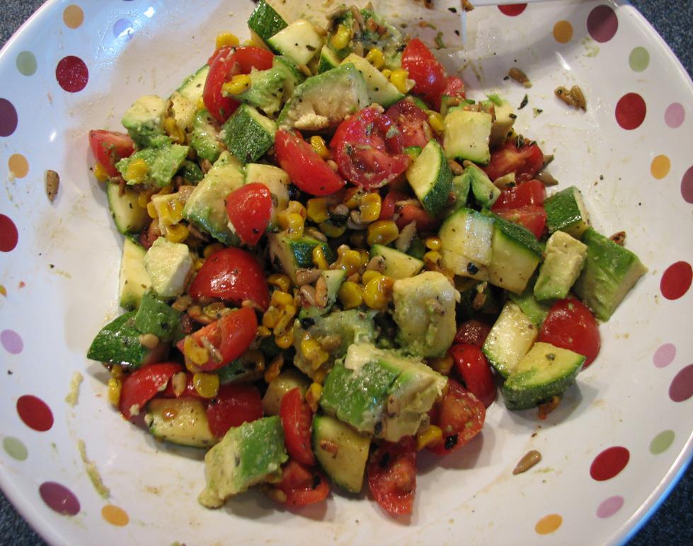 Avocado and Sunflower Seed Salad