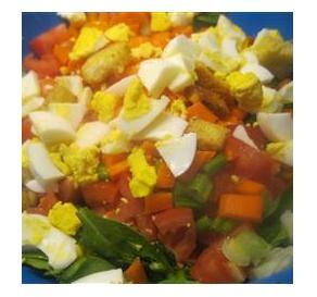 Bacon, Egg and Little Gem Salad