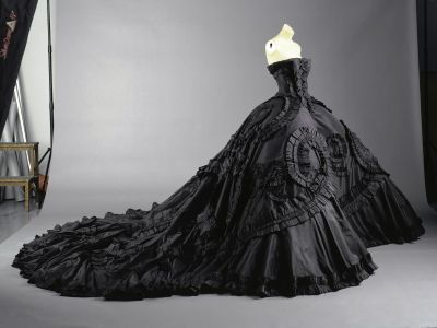 Wearing Black Wedding Dress