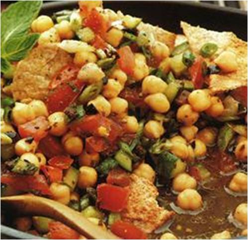 Chickpea and Pitta Salad Recipe