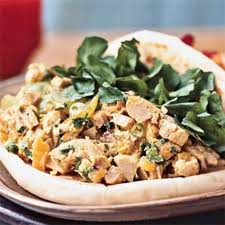 Curried Chicken Salad on Naan Bread Recipe