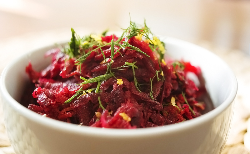 Dill, Tomato and Beetroot Salad Recipe