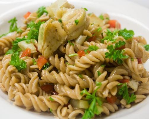 Easy Artichoke and Red Pepper Pasta Salad Recipe