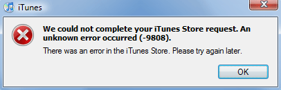 Fix 9808 iPhone Error