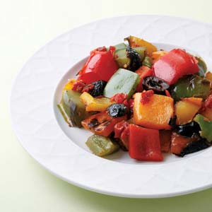 Grilled Peppers Salad Recipe