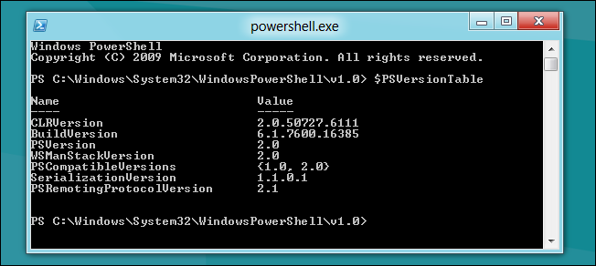 Run PowerShell 2 and 3 Concurrently in Windows 8