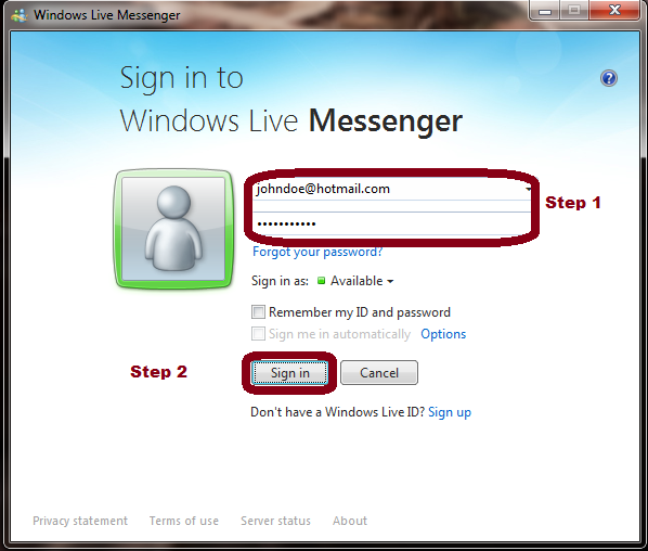 7.0 Download Hotmail Messenger New Version