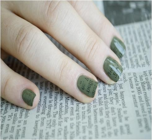 How To Do Newspaper Nails Step By