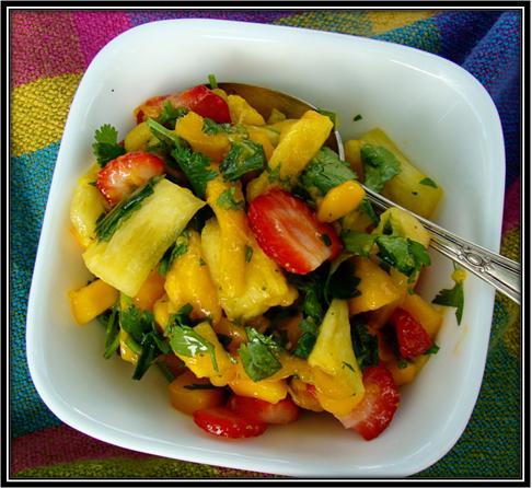 Mango Fruit Salad with Coriander