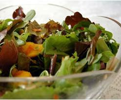 Mesclun and Mango Salad with G