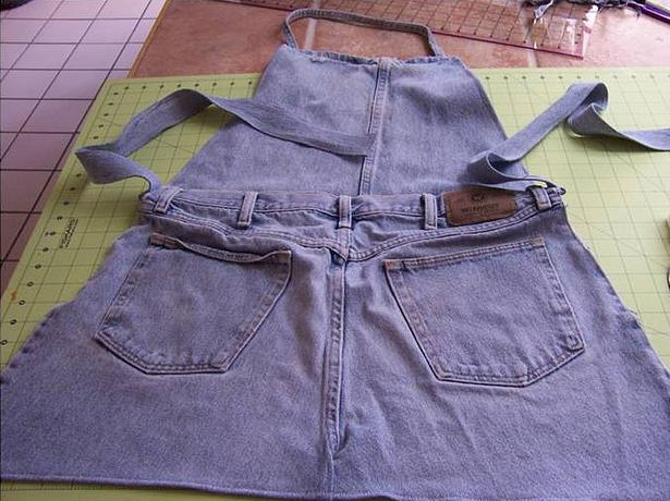 How to make Old Jean Appron