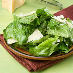 Romaine with Garlic Lemon Anchovy Dressing Recipe