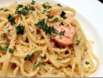 Smoked Salmon and Prawn Pasta Salad