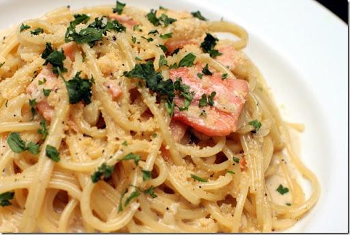 Smoked Salmon and Prawn Pasta Salad