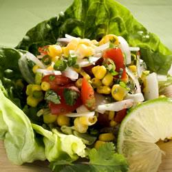 Sweetcorn Red Onion and Tomato Salad Recipe