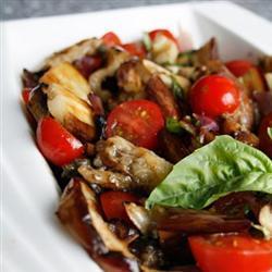 Warm Aubergine Tomato Salad