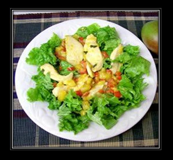 Warm Ginger and Mango Chicken Salad Recipe