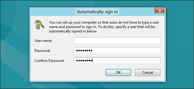 Make Your Windows 8 Computer Logon Automatically