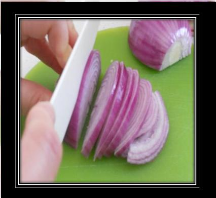 how to cut salad onion