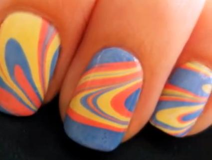 how to make marbled nails