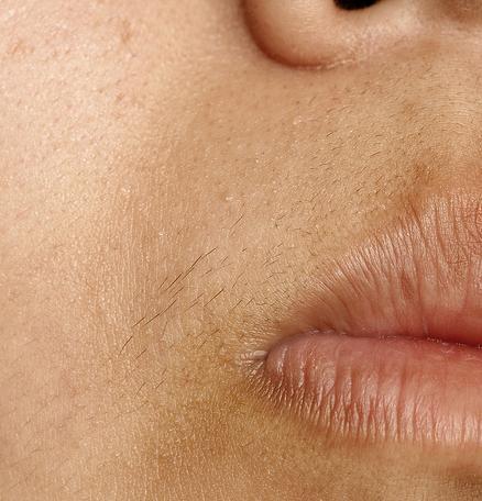 how to wax facial hair