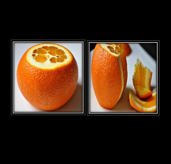 peel off oranges