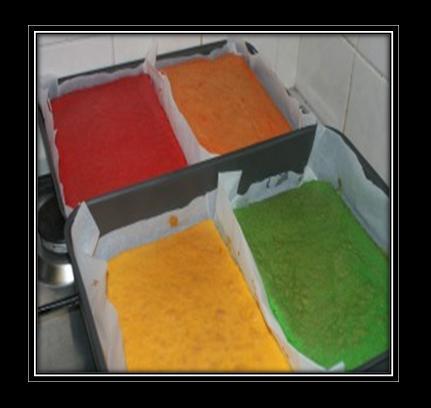 how to make a rainbow cake step by step