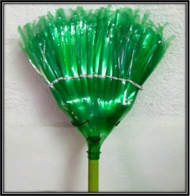 How to make broom with plastic bottles for Waste things into useful things