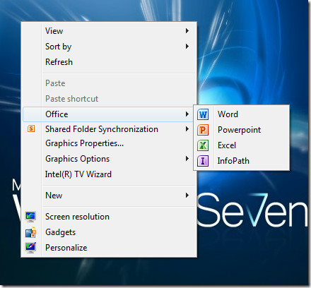 Add Multiple Types of Items to the Desktop Context Menu in Windows 7 or 8