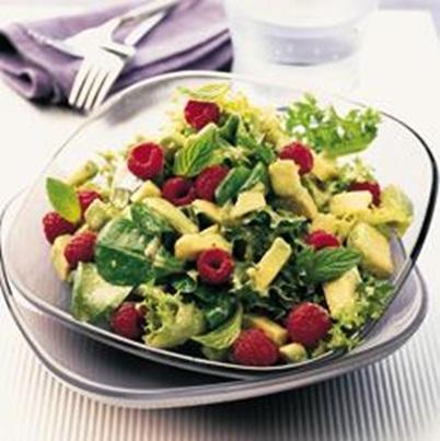 Avocado Salad with Raspberries