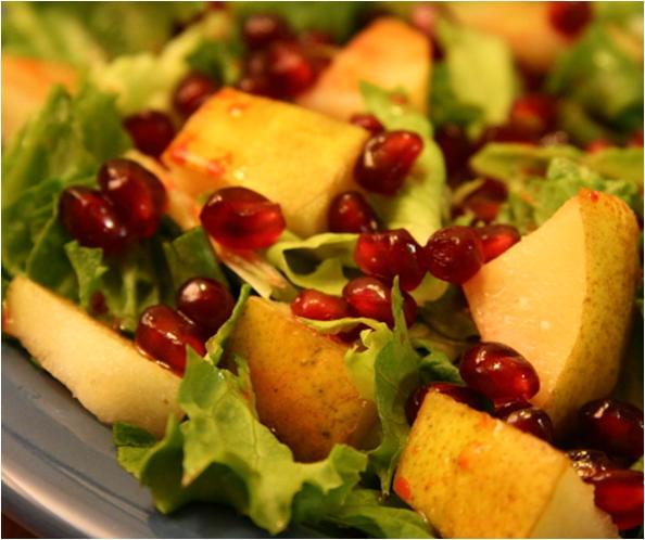 Batavia with Pomegranate Winter Salad Recipe