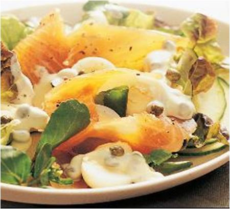 Egg Mayonnaise Salad with Smoked Salmon Recipe