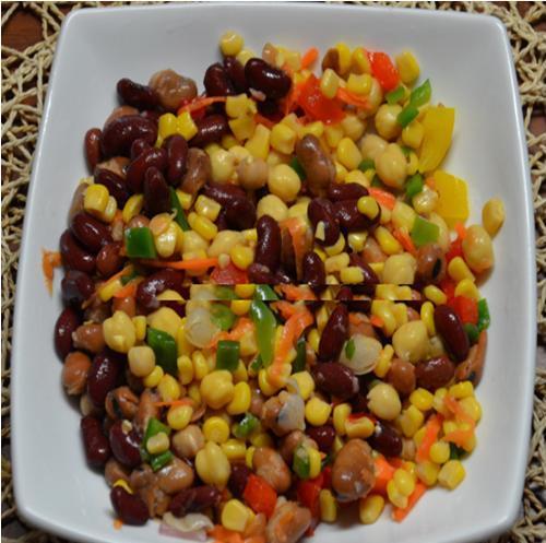 Four Bean and Sweetcorn Salad Recipe