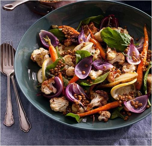 Lemony Lentil and Vegetable Salad Recipe