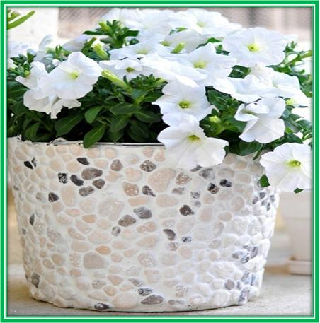 Pebbled Flower Pot