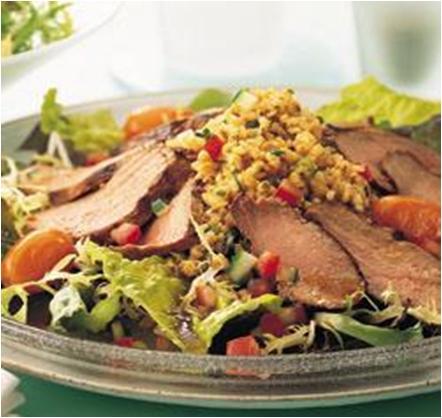 Marinated Duck Salad with Bulgur Wheat Recipe