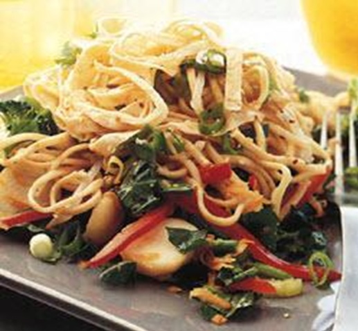 Noodle and Omelet Salad recipe