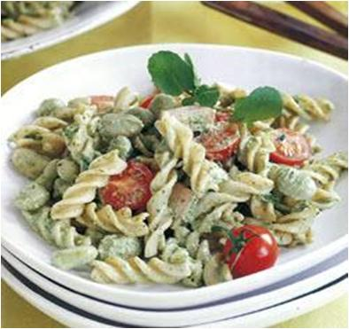 Pasta Ham and Broad Bean Salad Recipe