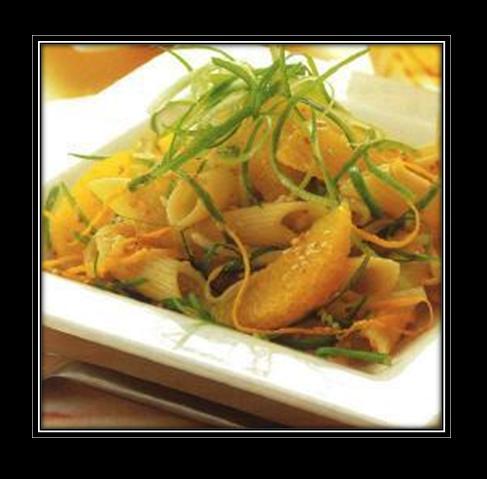 Penne Rigati with Sesame and Orange Dressing Recipe