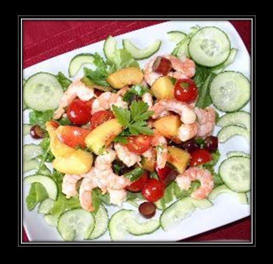 Prawn, Melon and Mango Salad