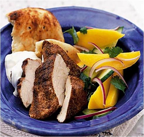 Spiced Chicken and Mango Salad recipe